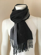 POLO RALPH LAUREN CLASSIC REVERSIBLE GREY SCARF MADE IN ITALY RETAIL £57
