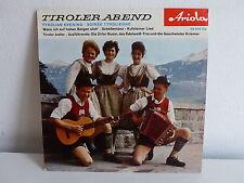 Tiroller abend Tyrolian evening Soirée tyrolienne ARIOLA 40306 CU