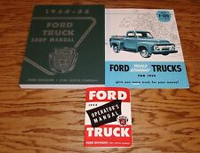 1954 Ford Truck Shop Service Manual Owners Manual Sales Brochure Lot of 3 54