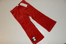 Gymboree Winter Penguin Girls Size 2T Red Velour Pants Bow Button Pull Up NWT