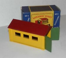original.MOKO.1960s,Lesney.Matchbox.Accessory.A-3.Garage.alm Mint in box.