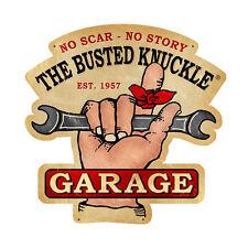Busted Knuckle Garage Wrench 1957 Werkstatt Vintage Sign Blechschild Schild Groß