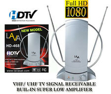 50+ MILE DIGITAL INDOOR TV ANTENNA HDTV DTV HD VHF/UHF