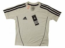 Adidas boys 3 stripe t-shirt age 5-6 BNWT free UK postage