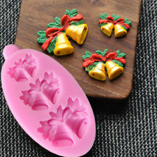 Christmas Bells Silicone Fondant Cake Chocolate Cookie Mold Cake Decor Craft