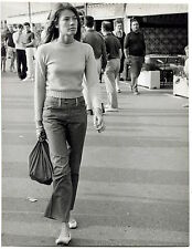 Photo Pierluigi - Françoise Hardy - St Tropez -Tirage argentique d'époque 1966 -
