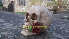 NEW DESIGN RUBBER LATEX MOULD MOULDS MOLD TO MAKE MEDIUM GOTHIC SKULL + ROSE