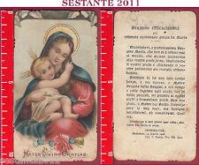 1741 SANTINO HOLY CARD MADONNA MARIA MATER DIVINE GRATIAE MEDIOLANI