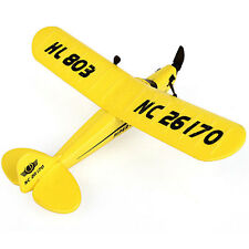 Mini HuaLe HL803 PIPER J3 NC26170 Remote Control RC Airplane RTF Transmiter New
