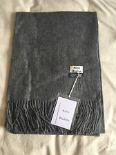 NEW Acne Studios Canada Scarf Grey 100% Wool oversized cashmere fringed Shawl