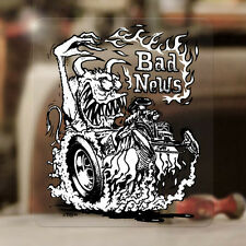 Bad News Ed Roth sticker decal hot rod old school rat fink 3.75""
