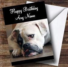 Triste chien Bulldog américain Personnalisé Anniversaire Carte de vœux