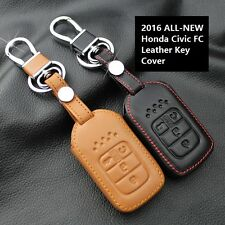 Honda Civic 2016 All-New 10Generation Keyless Remote Leather Key Cover Case