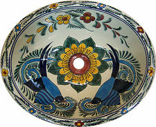 Wash basin Mexican SMALL Ceramic Sink Talavera # 197
