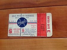 1953 Dodgers World Series Ticket G5 Mickey Mantle Hr. Grand Slam Yankees