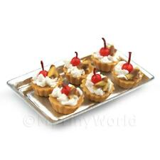 6 LOOSE bambole Casa In Miniatura CHERRY e caramella pasticcini in un cassetto