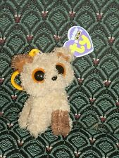 "Ty Beanie Boo 3"" clip Dog ROOTBEER (BROWN & TAN) Mint/Mint tag * RARE * Retired"