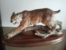 "ANRI LARGE 20"" Granget Limited Edition THE LYNX Woodcarving Figurine"