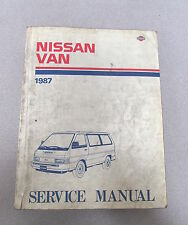 1987 Nissan Van Service Repair Manual Model C22 Series