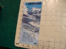 Vintage High Grade SKI brochure: SNOWMASS Colorado 1975---12pgs