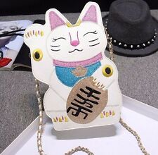 Tokyo Fortune Lucky Cat Messenger Hand Bag Shoulder Bag Purse Wallet FreeShipp