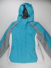 WOMENS blue 3 in 1 COAT gray fur cozy winter = BELOW ZERO = SIZE Medium = #R91
