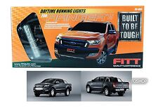 FORD RANGER T6 MK2 FACELIFT 15 2016 FITT LED DRL DAYTIME RUNNING DAYLIGHT LIGHT