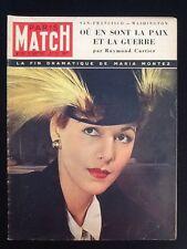 Paris Match de 1951 La fin dramatique de Maria Montez