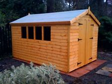 "14X8 OR 16X6  WOODEN GARDEN SHED  13MM T/G ""2X2 ""CLS FRAME 1"" THICK FLOOR"