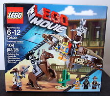 Lego #70800 Lego Movie Series, GETAWAY GLIDER 104 Piece Set with 3 Minifigures