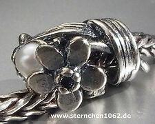 Trollbeads * Märzenbecher - März * Geburtsblume * Silber mit Perle