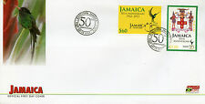Jamaica 2012 fdc 50th anniv de l'indépendance 1962-2012 2v set couverture armoiries