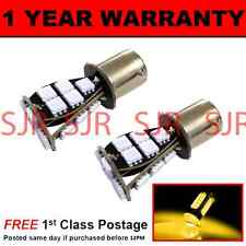 382 1156 BA15s XENON AMBER 21 SMD LED FRONT INDICATOR LIGHT BULBS X2 FI201702