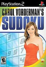 SUDOKU CAROL VORDERMAN'S SUDOKU GAME FOR PS2 PLAYSTATION 2 NEW SEALED