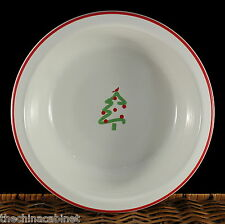 HOMER LAUGHLIN FIESTA CHRISTMAS TREE HOLIDAY RED OUTLINE CARDINAL SERVING BOWL