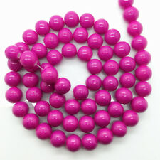 New 8mm 30pcs Rose Glass Pearl Round Spacer Loose Beads Jewelry Making
