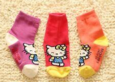 2 Pairs NEW Girl Child Kid Baby GAP Pink Hello Kitty Sweet crew Socks 1-2year