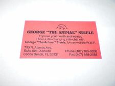 WWF  WRESTLING LEGEND GREAT GEORGE THE ANIMAL STEELE  PERSONAL BUSINESS CARD