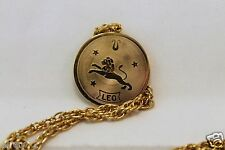 "$28 Nordstrom LEO Horoscope Sign Zodiac Pendant Coin 1 1/4"" Dia with chain"