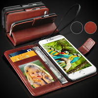 New Rich Luxury Magnetic Leather Wallet Flip Case Cover For Various Smart Phones