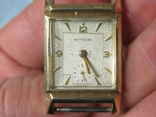Mens Vtg Art Deco Wittnauer Wrist Watch 10k GF Yellow Working Honeycomb 17j 9WN