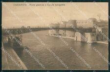 Taranto Città Ponte Girevole STRAPPINI cartolina XB2512