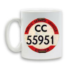 BUS DRIVER BADGE Printed Mug 11oz Ceramic Heavy Large Cup Novelty Conductor Gift