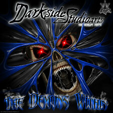 """YAMAHA RAPTOR 250 GRAPHICS DESIGNED FOR OEM PARTS """"THE DEMONS WITHIN"""" DECAL KIT"""
