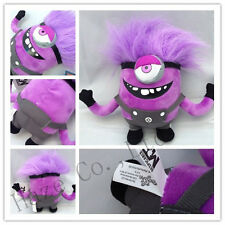 """Despicable Me Purple Evil Minions Plush Stuffed Animal One-Eyed Doll 6"""""""