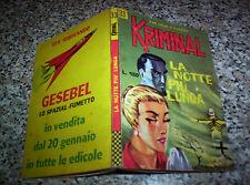 KRIMINAL N.33 ORIGINALE del 1966 CORNO TIPO SATANIK-FORD-DIABOLIK-MAGNUS-GENIUS