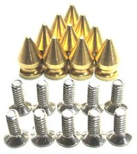 "50 solid polished brass 1/2"" (13mm) Spikes High Quality Made In USA Screwback"
