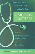Narrative Matters: The Power of the Personal Essay in Health Policy, , New Book