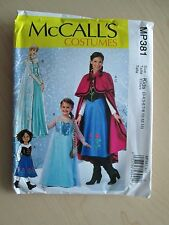 McCalls MP381 M7000 MP370 FROZEN Elsa Anna Costume Pattern - Girls Sz 3-14