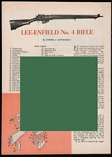 1962 LEE-ENFIELD No. 4 Rifle Exploded View, Parts List 2-page Assembly Article